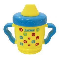 """Поильник спортивный с фигурными мягкими ручками """"Сказка"""" (PP) BPA-free"""