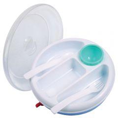 """Набор посуды ( тарелка, ложка, вилка, 3 секции ) """"Camera"""""""